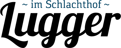 Logo vom Lugger im Schlachthof mit Unterschrift im Schlachthof